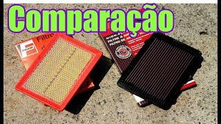Comparação Filtro de Ar x Filtro de Ar Esportivo