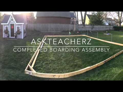 DIY Outdoor Ice Rink Assembly