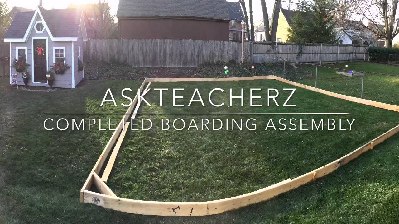 DIY Outdoor Ice Rink Assembly - YouTube