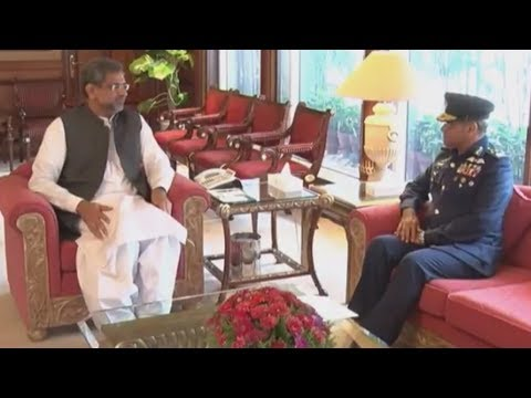 Air Chief Marshal Sohail Aman Called On PM Shahid Khaqan Abbasi - 24 News HD