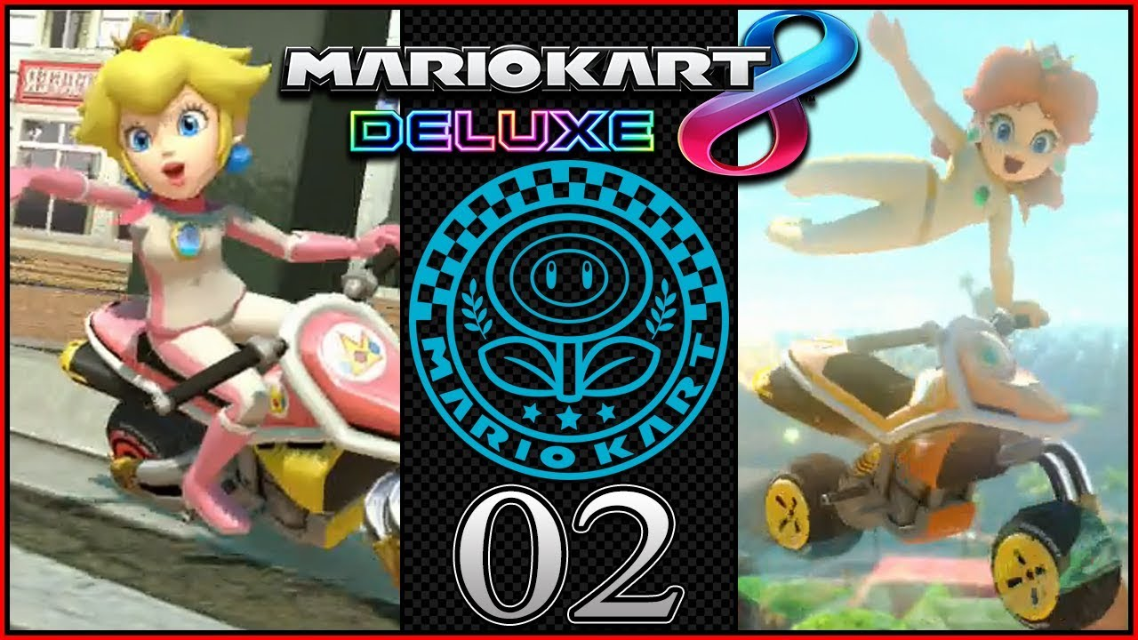 peach vs daisy 200cc mario kart 8 deluxe coop grand prix flower cup gameplay part 2. Black Bedroom Furniture Sets. Home Design Ideas