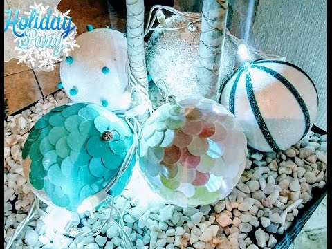 Esferas Navideñas Con Bolas De Unicel Youtube