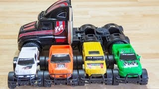 Playing with Toy Trucks - Jacob and Mommy Use Their Imagination!