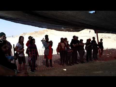 Masada, Israel - excellent explanation on the archaeological excavations at Area B. February 21 2017