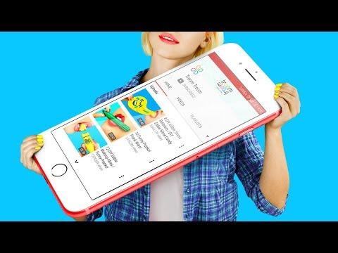 Огромные и миниатюрные гаджеты / 10 пранков для школы - Видео с YouTube на компьютер, мобильный, android, ios