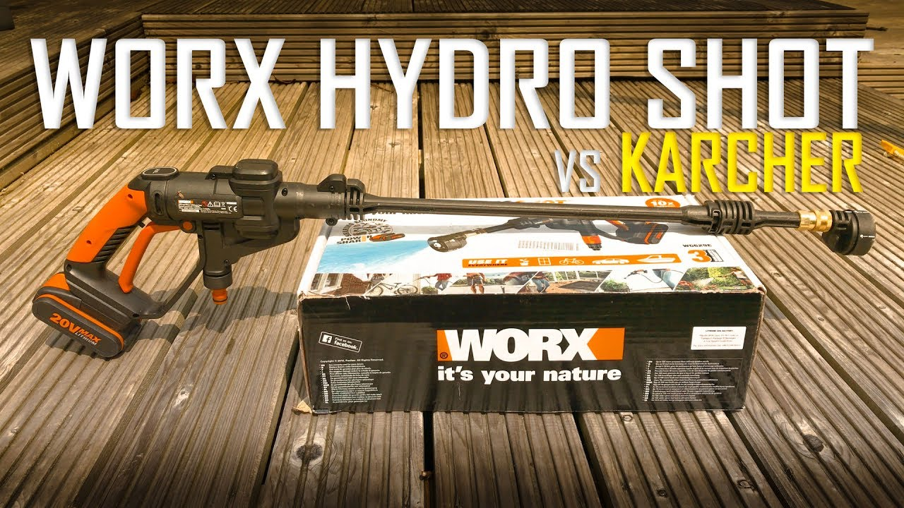 Worxs Hydroshot Cordless Pressure Washer Vs Karcher Real