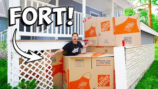 HUGE BOX FORT UNDER OUR HOUSE!