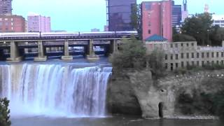 Amtrak over High Falls, Genessee River Rochester,