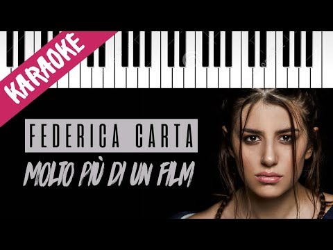 Federica Carta | Molto Più Di Un Film // Piano Karaoke con Testo