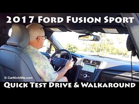 New 2017 Ford Fusion Sport  Quick Test Drive Amp Walkaround