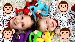 Five Little Monkeys Jumping On The Bed Andrei PLAYS with monkeys Compilation Co