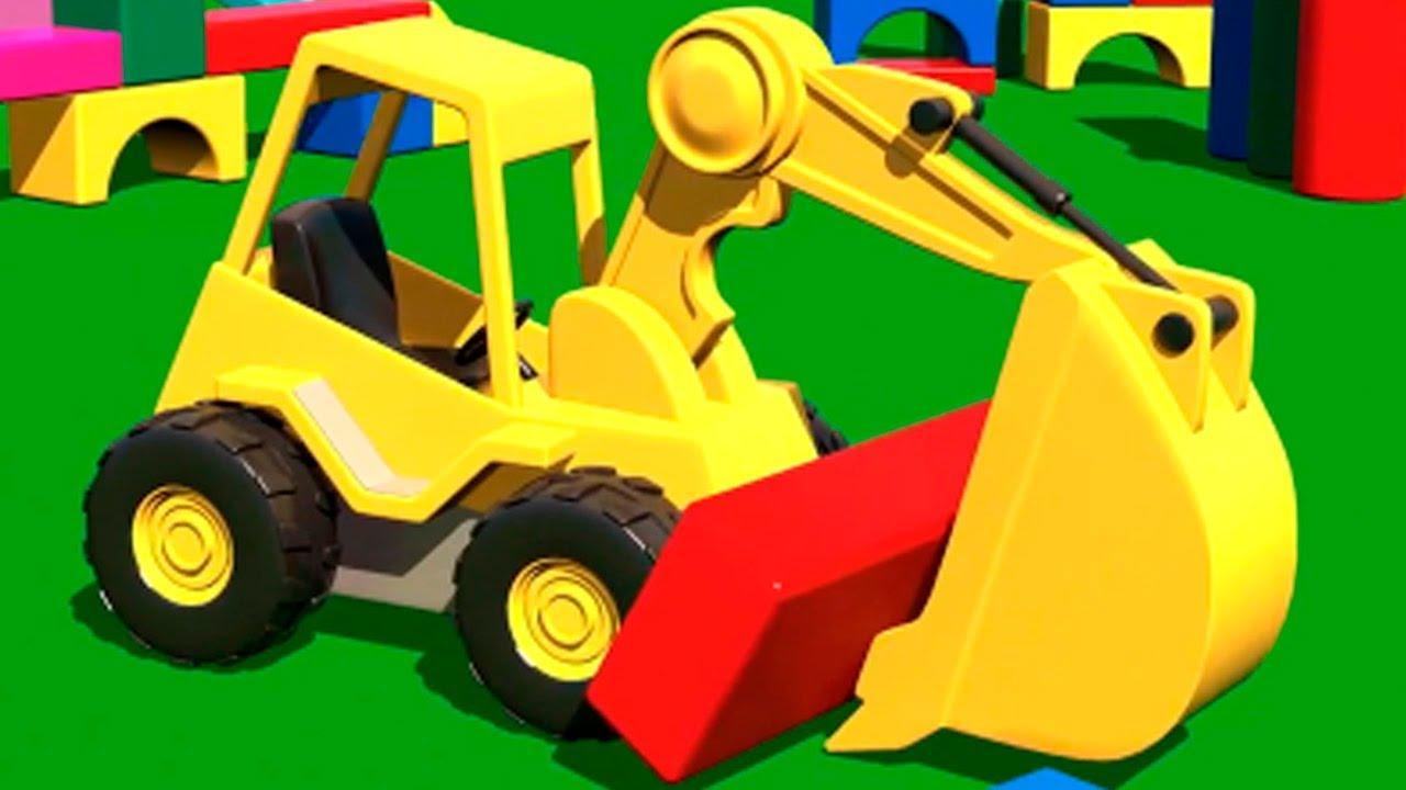 Развивающий мультик машинки на детской площадке