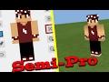 COMO FAZER SKIN SEMI - PRÓ COM SOMBRAS E EFEITOS! (Minecraft PE)