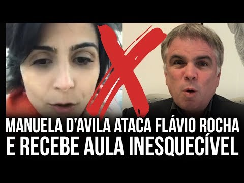Flávio Rocha responde ataque de Manuela D'avila