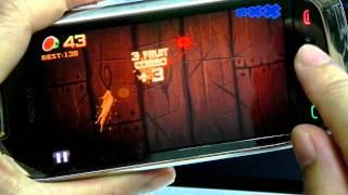 fruit ninja hd game by halfbrick studios on nokia c7 symbian 3