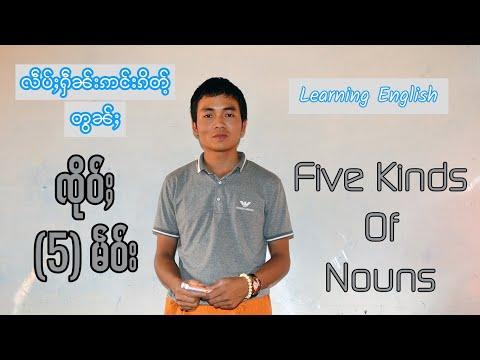 008 Five kinds of nouns ၸိုဝ်ႈႁႃႈမဵဝ်း