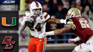 Miami vs. Boston College Condensed Game | 2018 ACC Football