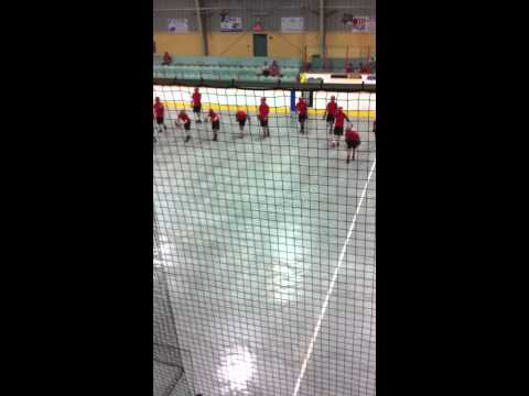 Wallaceburg Red Devils warmup vs Windsor Clippers - July 5