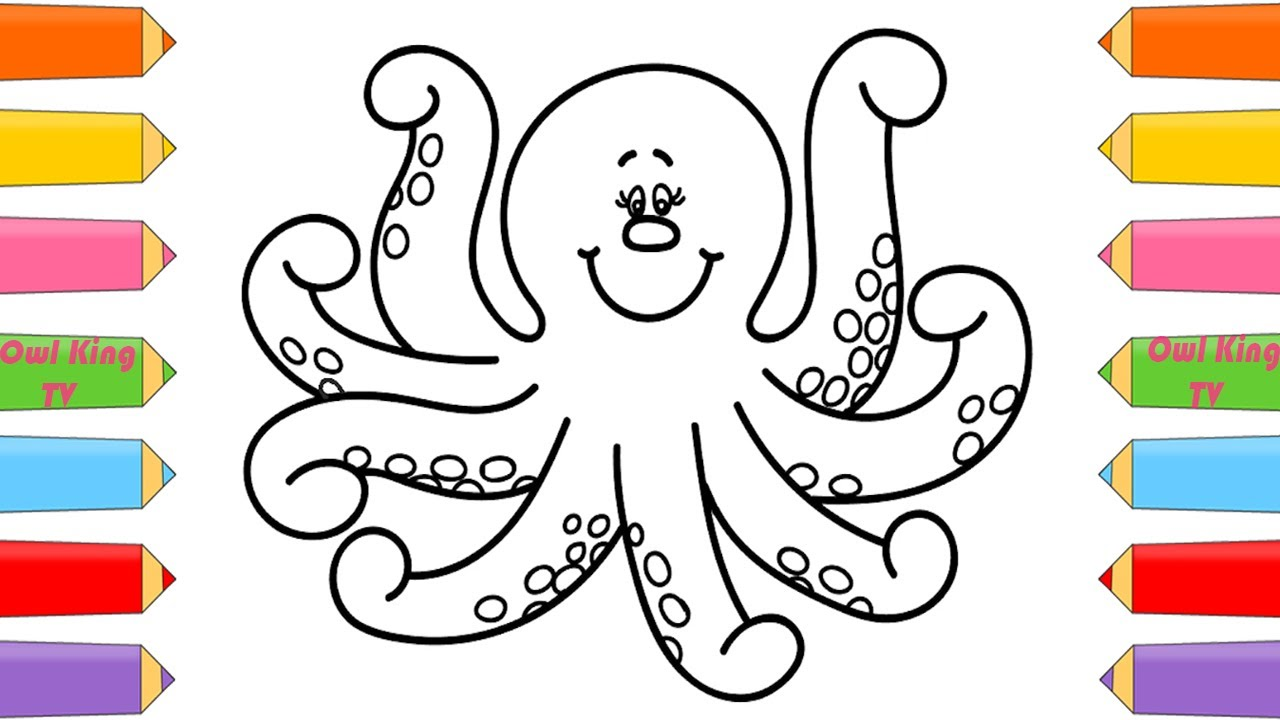 How To Draw Octopus Coloring Pages Animals For Kids