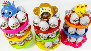 Learning Color Rolling slide ball surprise Egg play video for kids