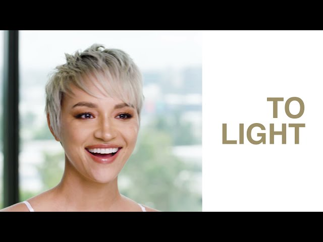 Blonde Ambitions: Take A Short Haircut From Super-Dark To Super-Light With This Pixie Technique