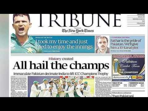 World Media Applauds Pakistan For Champions Trophy Victory