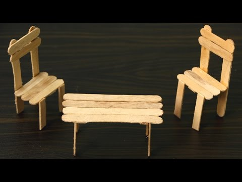 How To Make a Chair and Table Using ice Cream Sticks / popsicle stick