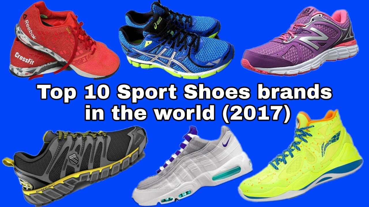 Top 10 most popular sport shoes brands in the world YouTube