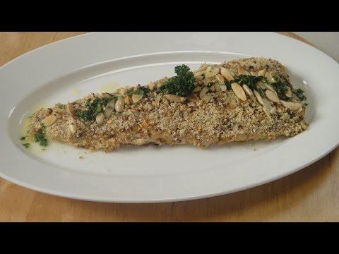 Almond Crusted Fish With Lemon Butter Sauce | Sanjeev Kapoor Khazana