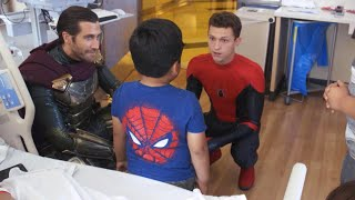 Kids Flip Out When Tom Holland Surprises Them at Hospital