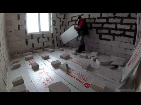 Как укладывать экструдированный пенополистирол на бетонный пол