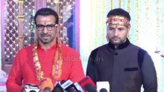 Itna karo naa mujhe pyaar actor ronit roy with brother rohit roy on birthday