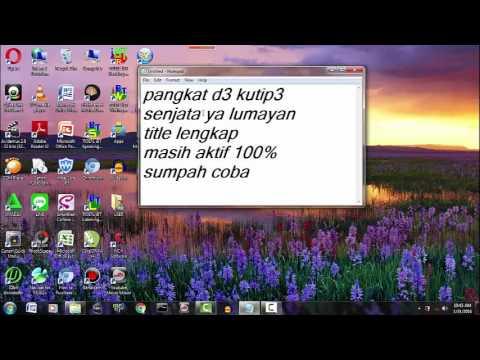 Bagi-Bagi Char Pb Garena D3 Kutip 3 100%AKTIF (2016)