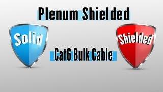 Solid Shielded Plenum Cat6 Bulk Cable