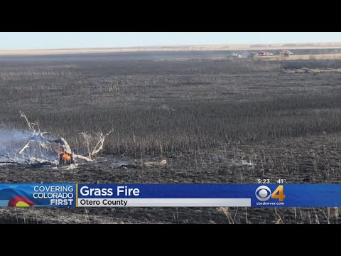 Firefighters Battle 'Timber Fire' In Otero County