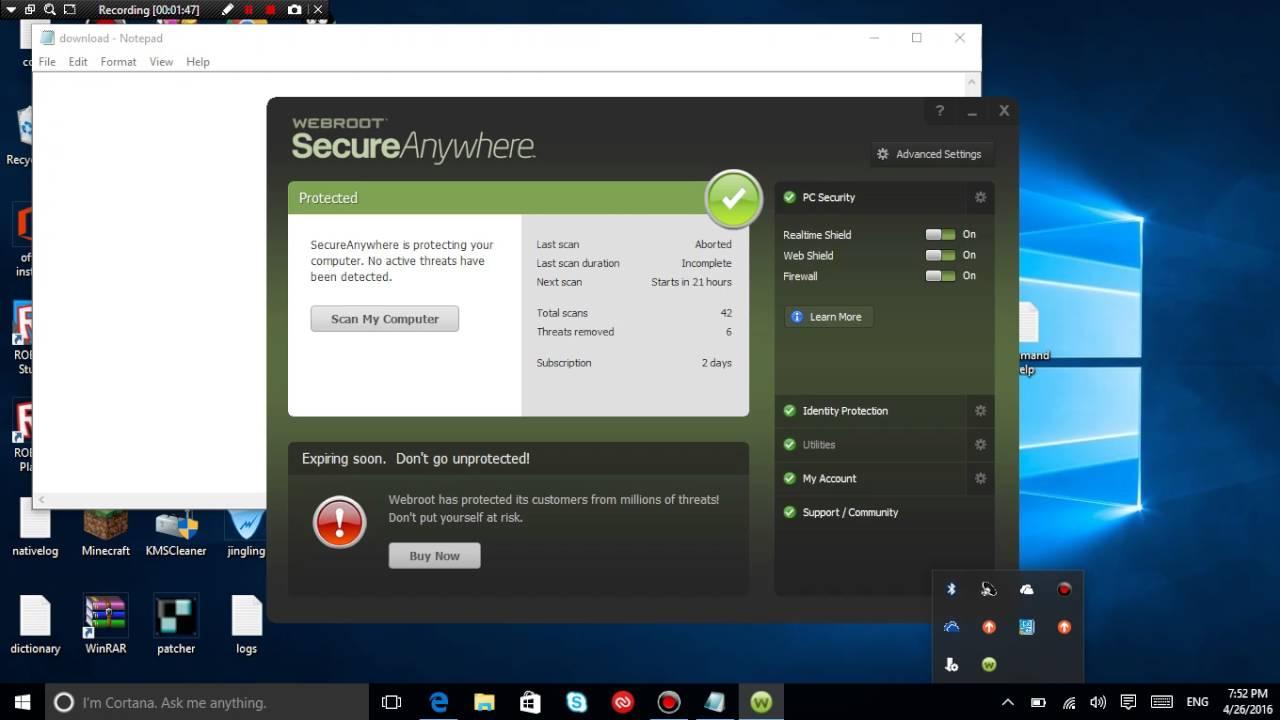 webroot secureanywhere keygen