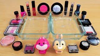 Pink vs Gray - Mixing Makeup Eyeshadow Into Slime! Special Series 103 Satisfying Slime Video