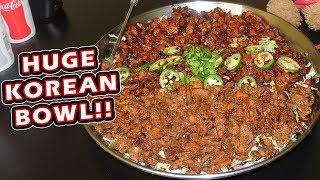 Triple Meat Korean Rice Bowl Challenge w/ Beef, Chicken, & Pork!!