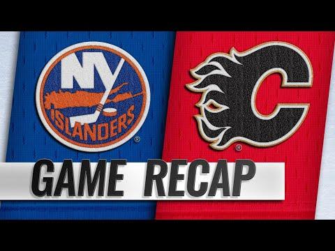 Flames net two quick goals in the 3rd, top Islanders