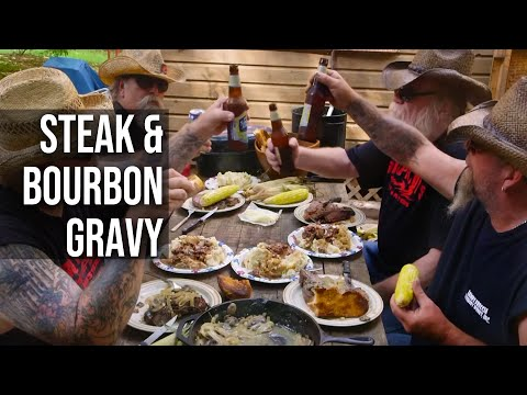 Steak and Bourbon Gravy by the BBQ Pit Boys