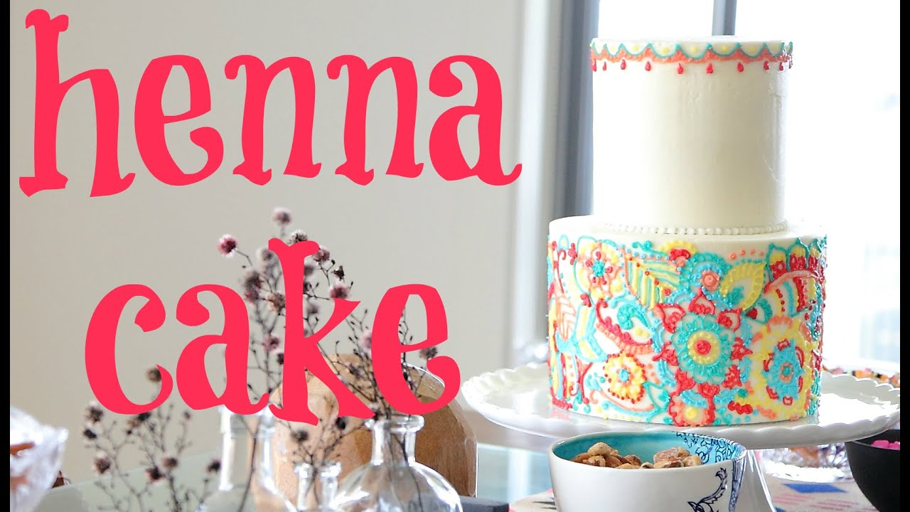 Henna Inspired Buttercream Cake Tutorial Cake Style Youtube