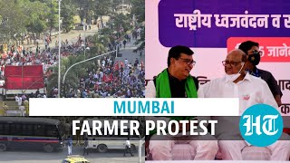 Farmer protests spread to Mumbai: Congress, NCP leaders attend; cops stop march