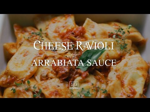 Cooking from scratch: Delicious Cheese Ravioli with Arrabiata Sauce (ASMR – No Music)
