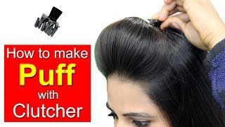 How to Use Hair Clutcher to Make Hair Puff   Quick & Easy Hairstyles