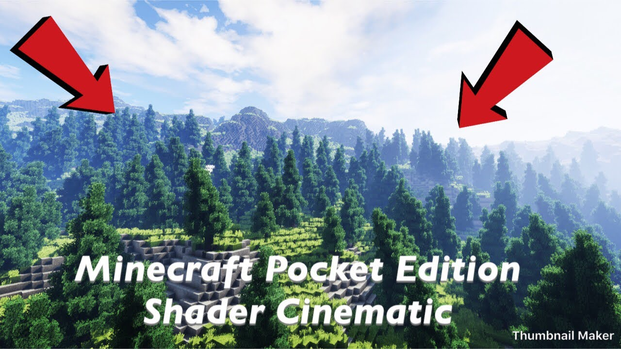 Minecraft Pocket Edition // CSPE Shaders Cinematic (IN 4K) (Link in the  description)