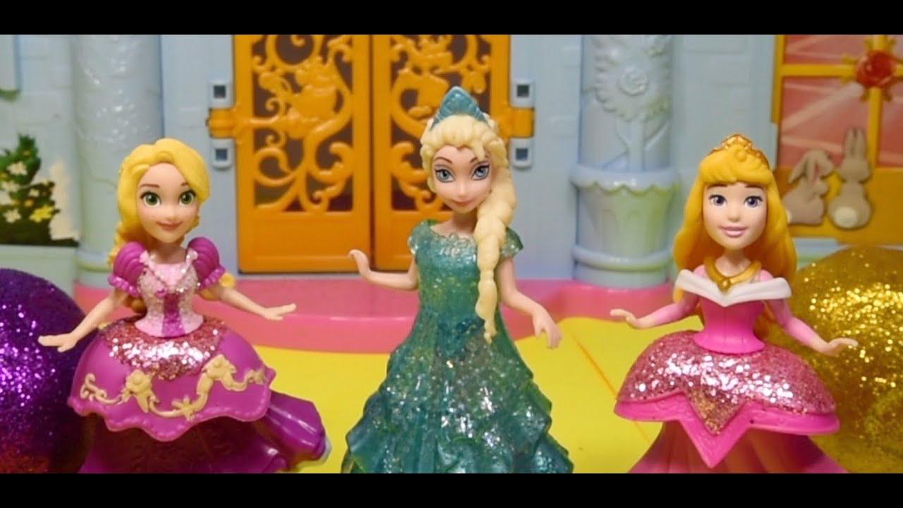 Disney Princess Play Doh Glitter Sparkle Fashion Dresses (DIY)