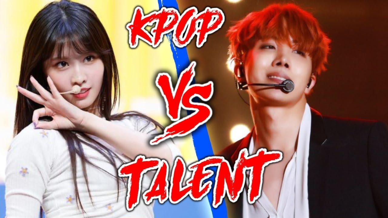 K-POP VS THE REAL TALENT {TWICE, BTS, PENTAGON, DIA, RED VELVET & MORE}