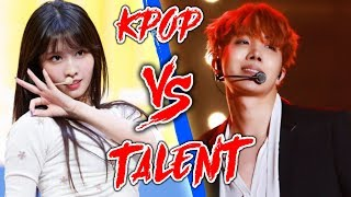 K-POP VS THE REAL TALENT {TWICE, BTS, PENTAGON, DIA, RED VELVET & MORE}