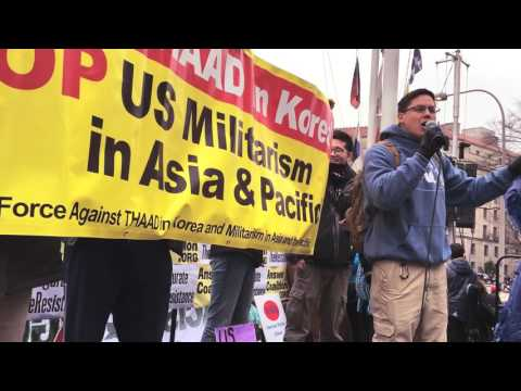 Stop THAAD in Korea and Militarism in Asia and the Pacific in DC