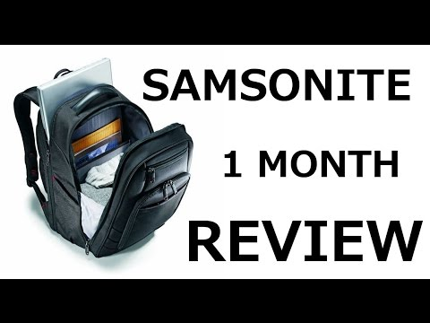 Why I choose Samsonite Xenon 2 backpack bag, not Tumi, Targus or Wenger